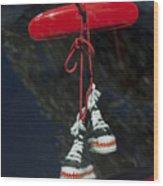 Hanging Hightops Wood Print