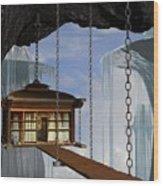 Hanging House Wood Print