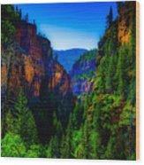 Hanging Lake Trail Wood Print