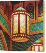 Hanging Lanterns Wood Print by Farah Faizal