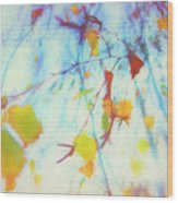 Hanging Leaves Wood Print