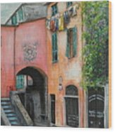 Hanging Out In Monterosso Al Mare Wood Print