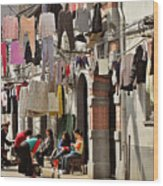 Hanging Out In The Streets Of Shanghai Wood Print by Christine Till
