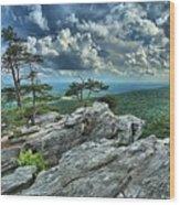 Hanging Rock Overlook Wood Print