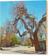 The Hanging Tree In Cerrillos In New Mexico  Wood Print