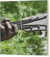 Hank Williams Hand And Guitar Wood Print
