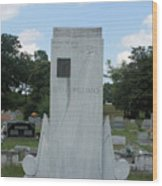 Hank Williams Sr. Headstone Wood Print