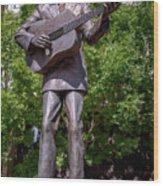 Hank Williams Statue - Montgomery Alabama Wood Print