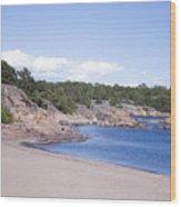 Hanko Beach Wood Print