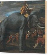 Hannibal Crossing The Alps On Elephants By Nicolas Poussin, 1625-1626. Wood Print