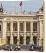 Hanoi Opera House 01 Wood Print