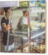 Hanoi, Vietnam  Vietnamese Street Food Seller Li Wood Print