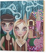 Hansel And Gretel Wood Print