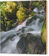 Hanson Falls Wood Print