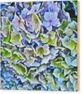 Hanson Hydrangea Wood Print