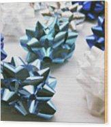 Hanukkah Bows- Photography By Linda Woods Wood Print
