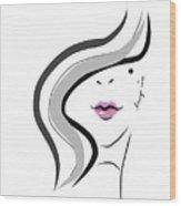 Hanyidesigns Beautiful Girl Wood Print