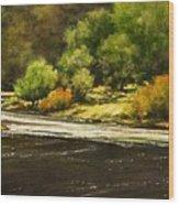 Lewis River Lagoon Wood Print