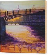 Ha'penny Bridge Dublin Wood Print