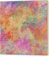 Happiness Abstract Painting Wood Print