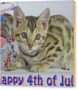 Happy 4th Of July Wood Print