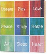 Happy 9 In 1 Wood Print