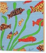 Happy Aquarium Wood Print