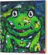 Happy As A Frog Wood Print