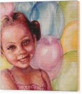 Happy Balloons Wood Print