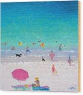 Happy Beach Days Wood Print