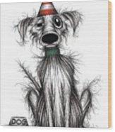 Happy Birthday Dog Wood Print