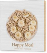 Happy Breakfast Fine Art Poster Wood Print