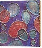 Happy Bubbles Wood Print