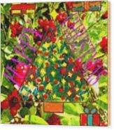 Happy Christmas 25 Wood Print