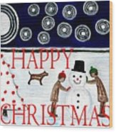 Happy Christmas 29 Wood Print by Patrick J Murphy