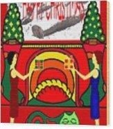 Happy Christmas 13 Wood Print
