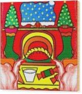 Happy Christmas 17 Wood Print