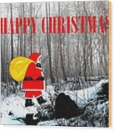 Happy Christmas 60 Wood Print