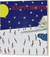 Happy Christmas 27 Wood Print