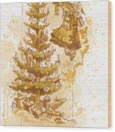 Happy Christmas Wood Print by Brian Kesinger