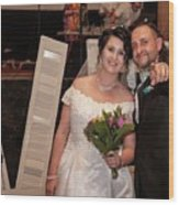 Happy Couple Wood Print