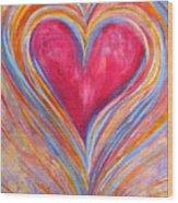 Happy Dancing Heart Wood Print