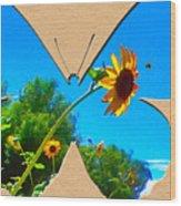 Happy Day Greeting Card Wood Print