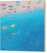 Happy Days At The Seaside Wood Print