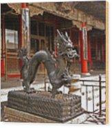 Happy Dragon Wood Print