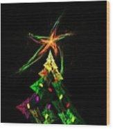 Happy Fractal Holidays Wood Print
