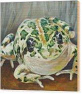 Happy Frog Wood Print