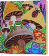Happy Frog Valley Wood Print