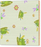Happy Frogs Wood Print