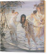 Happy Games Wood Print by Paul Chabas